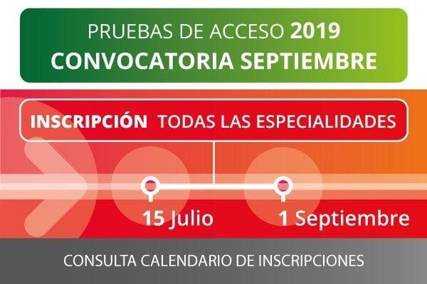 esmar pruebas acceso septiembre