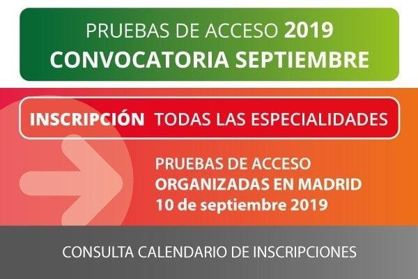 ESMAR pruebas acceso Madrid