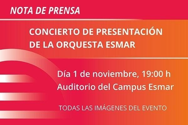 ESMAR concierto presentación orquesta