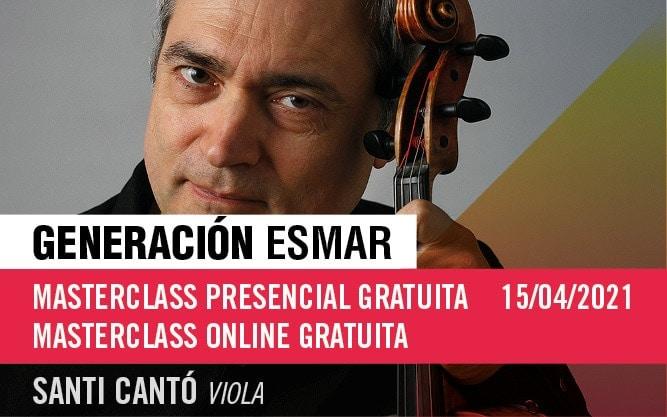 Generación ESMAR – Masterclass presencial o online gratuita de viola